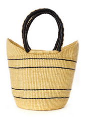 Bolga Shopper with Leather Handles