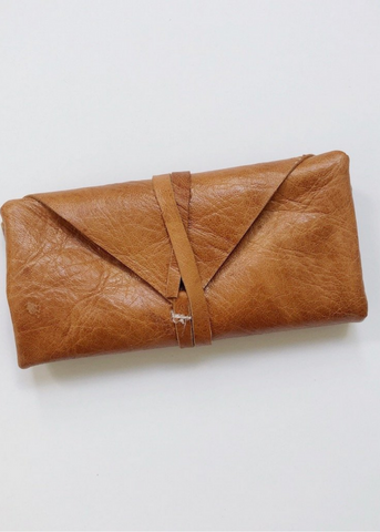 Haitian Leather Crystal Pouch