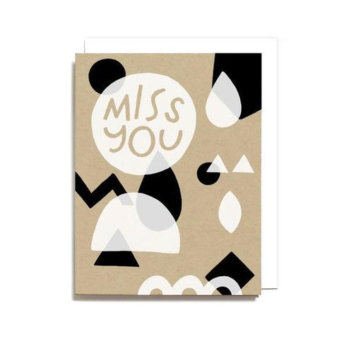 Miss You Geometry Card
