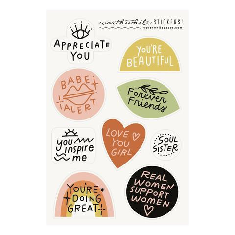 Friendship Sticker Sheet Set