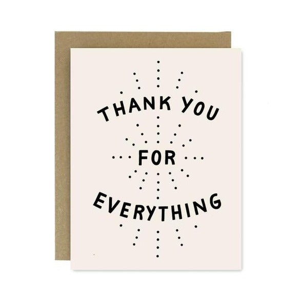 Thank You For Everything Card