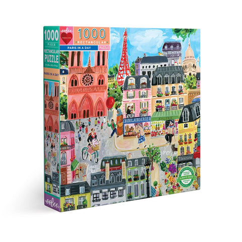 Paris in a Day 1000 Piece Rectangle Puzzle