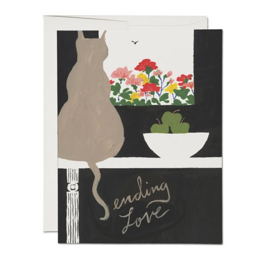 Sending Love Cat Card