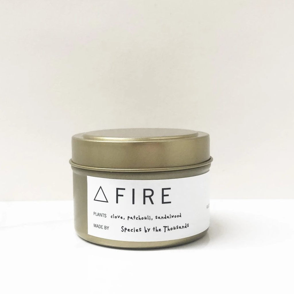 Fire Elemental Candle Tin