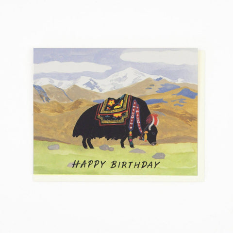 Yak Birthday Card