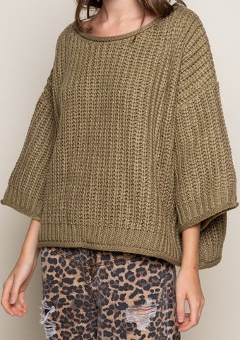 Olive Equinox Sweater