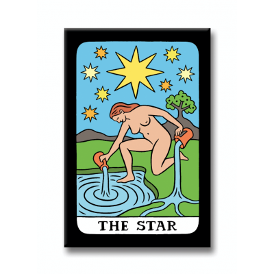 Tarot Card Star Magnet