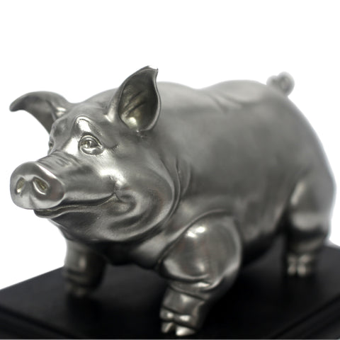Pewter Pig Sculpture