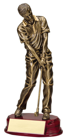 Male Golf Figure Award with Bronze Finish