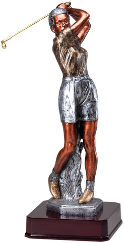 Large Female Golfer Statuette
