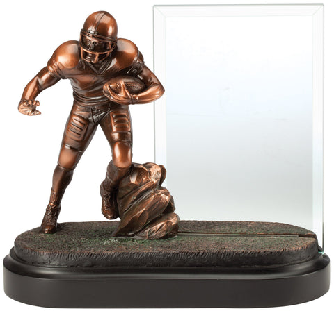Football Trophy With Engraving Glass