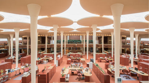 Frank Lloyd Wright designed the Johnson Wax offices