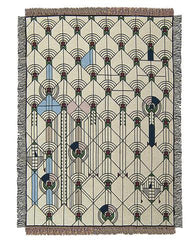 New Frank Lloyd Wright April Showers Tapestry Throw