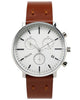 Paulin Stainless Steel/Brown Chronograph C201E