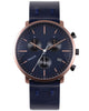 Paulin Rose Gold/Midnight Blue Chronograph C201A