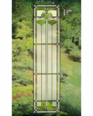 Arts and Crafts Tall Ginkgo Glass Panel
