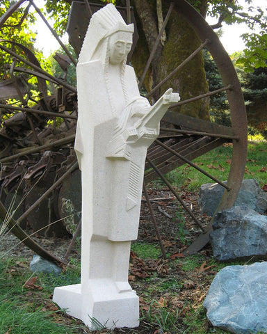 "36"" Frank Lloyd Wright Nakomis Sculpture"
