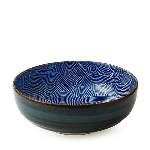 "Japanese Aranami Wave Collection 8.5"" Serving Bowl"