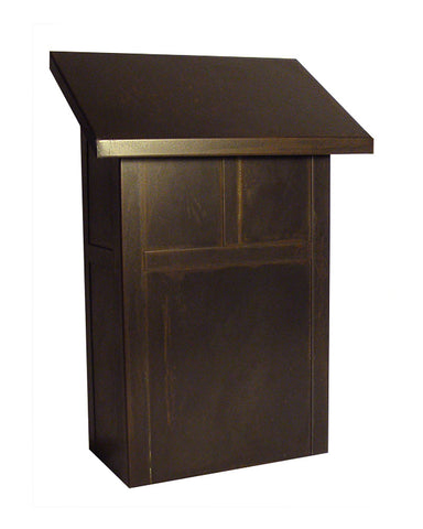 Mission MMB Vertical Mailbox by Arroyo Craftsman - Rustic Brown