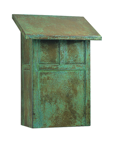 Mission MMB Vertical Mailbox by Arroyo Craftsman - Verdigris Patina