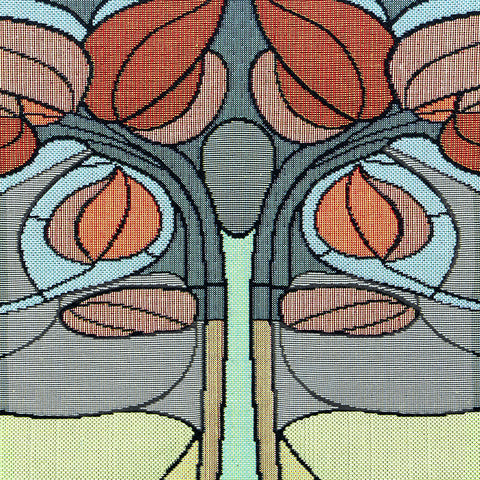 Arts & Crafts Art Nouveau Fall Floral Tapestry Placemat