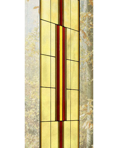 Tall Art Glass Panel 12 Inset