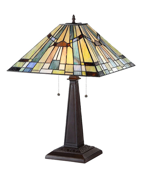 Arts Amp Crafts Kinsey Stained Glass Table Lamp Maclin Studio