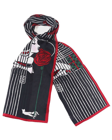Mackintosh Lady with Rose Crepe de Chine Scarf