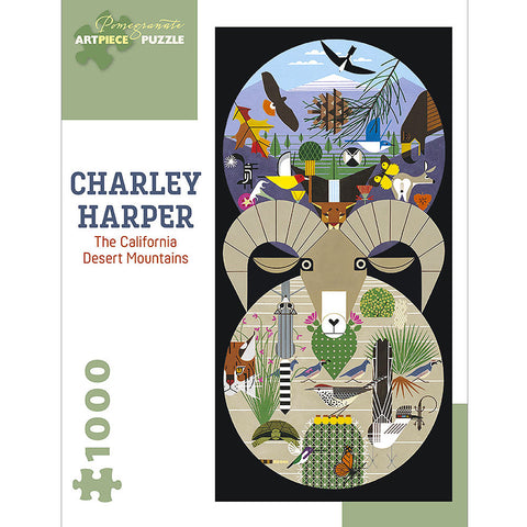 Charley Harper The California Desert Mountains 1000 Piece Jigsaw Puzzle