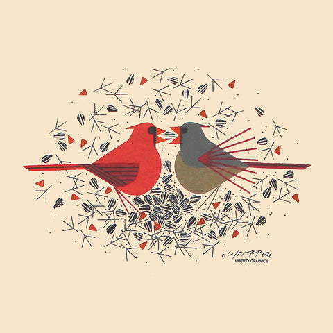 Charley Harper Cardinal Courtship T-Shirt