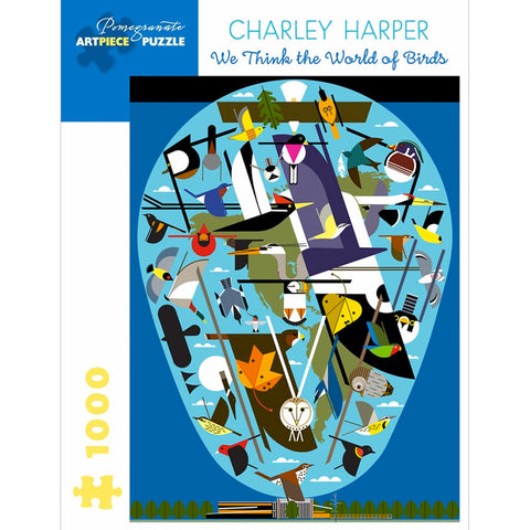 Charley Harper The World of Birds 1000 Piece Jigsaw Puzzle FRont