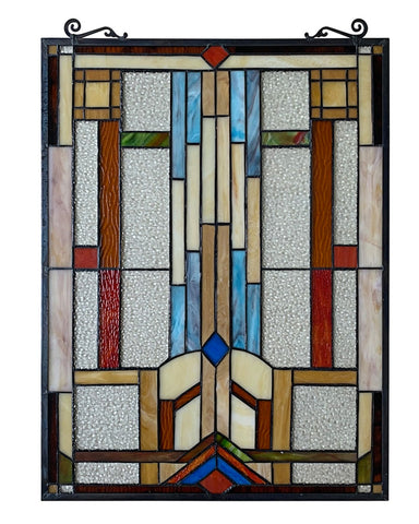 Arts & Crafts Joash Stained Glass Panel