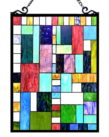 Art Deco Glass Window Panel