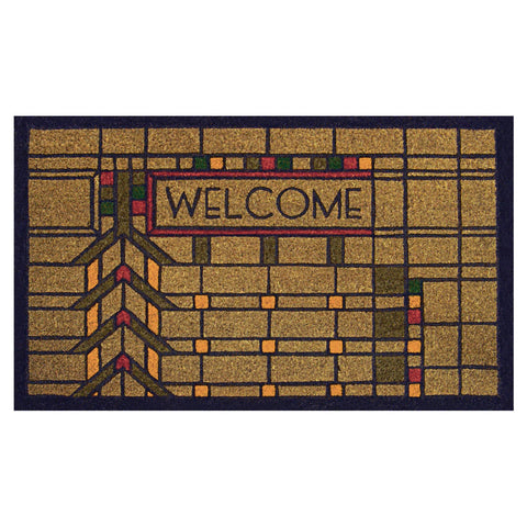 Frank Lloyd Wright Colored Martin House Welcome Doormat