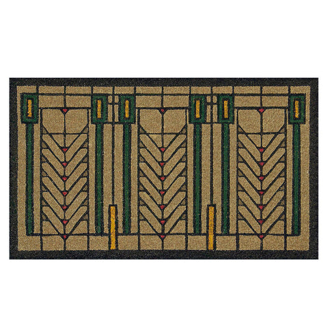 Frank Lloyd Wright Colored Tree of Life Doormat