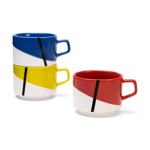 De Stijl Stacking Mugs Set of Three