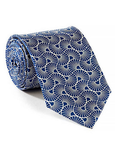 Art Deco Ginkgo Leaf Silk Tie