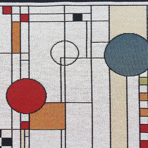 Art Glass Window Circle Study Tapestry Table Runner