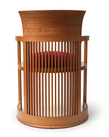 Frank Lloyd Wright Taliesin Barrel Chair back