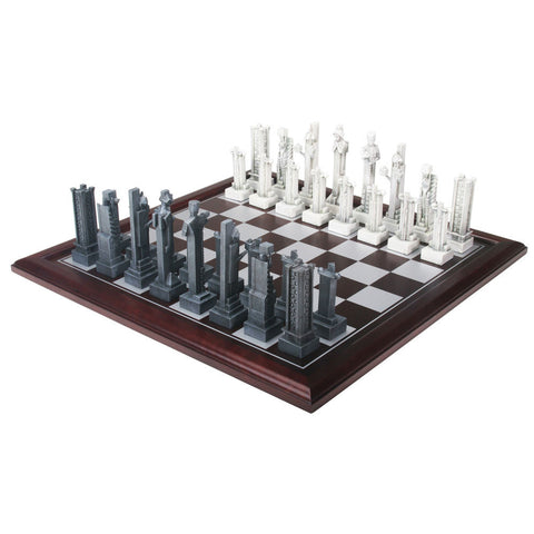 FLW Midway Gardens Chess Set with Board
