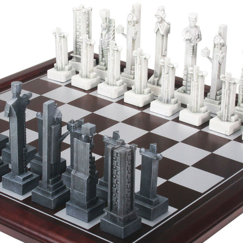 FLW Midway Gardens Chess Set with Board Inset