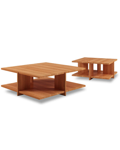 "Wright Lewis Coffee Table by Cassina - 45.3"" Pair Angle View"