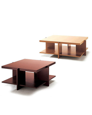 "Wright Lewis Coffee Table by Cassina - 45.3"" Cherry Wood Stained Walnut"