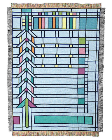 Frank Lloyd Wright Martin House Casement Tapestry Throw