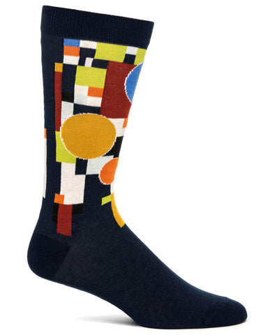 Frank Lloyd Wright Men's Coonley Playhouse Socks - Navy