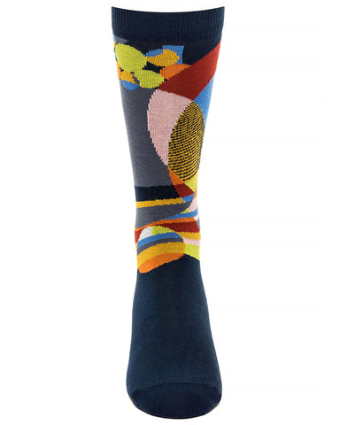 Frank Lloyd Wright Men's Socks March Balloons - Navy