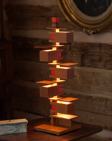 Taliesin 3 Table Lamp - Cherry fullview side table