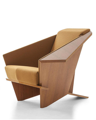 Wright Taliesin Origami Chair by Cassina - Wool Fabric Upholstery Angled