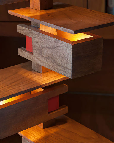 Taliesin 3 Table Lamp - Cherry close up