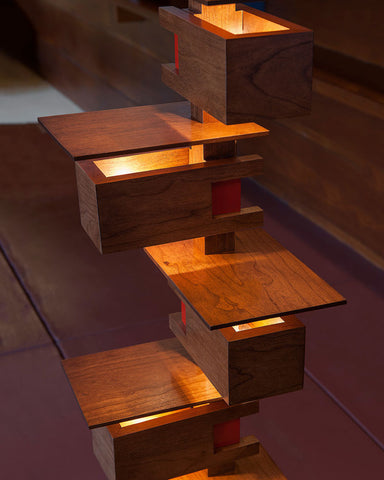 Taliesin 2 Floor Lamp - Cherry close up